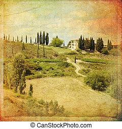 Montalcino - The landscape of the Tuscany. Italy