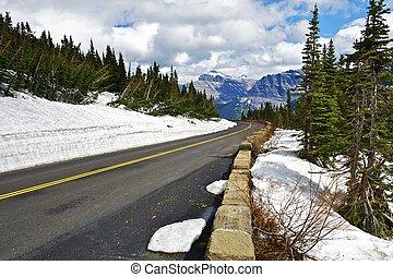 montana, escénico, camino