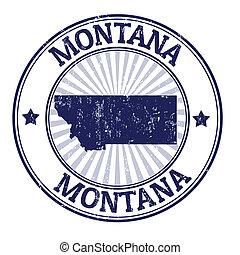 montana, estampilla