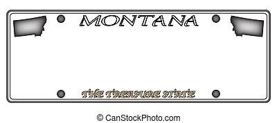 Montana License Plate - A Montana state license plate design...