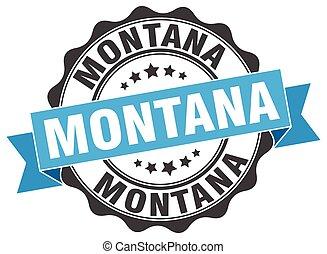 montana, redondo, cinta, sello