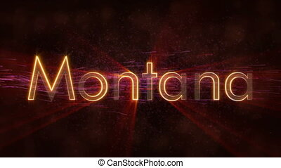 Montana - Shiny looping state name text animation - Montana...