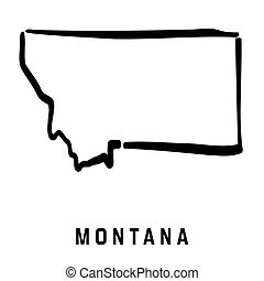 Montana simple logo. State map outline - smooth simplified US state shape map vector.