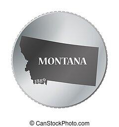 montana tillstånd, mynt