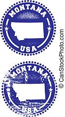 Montana USA Stamps