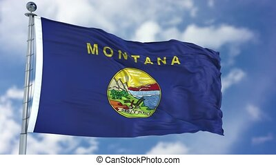 Montana Waving Flag