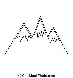 montanha, ícone