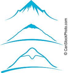 montanha, ícones