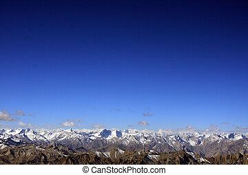 montanha, -, índia, picos, himalaya