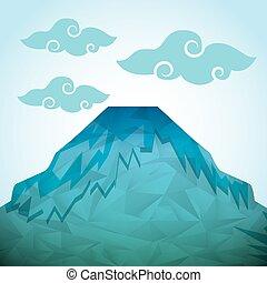 montanha, abstratos, ícone