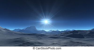 montanha, abstratos, planalto, paisagem, panorama