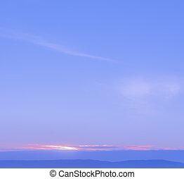 montanha, abstratos, sobre, amanhecer