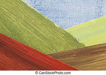 montanha, abstratos, vale, paisagem