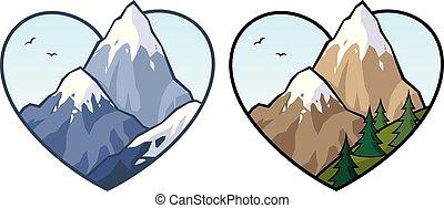 montanha, amor, sinal