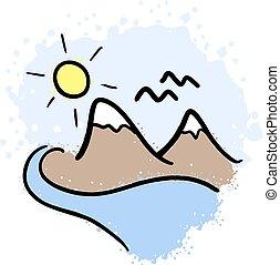 montanha, arte