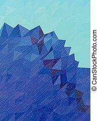 montanha azul, abstratos, céu, textura, chuva
