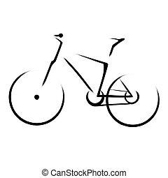 montanha, bicicleta, bicicleta