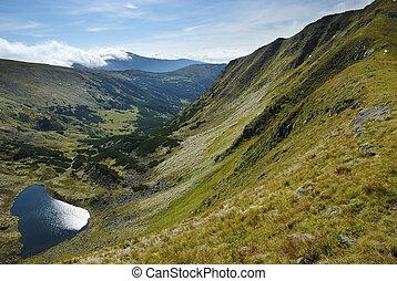 montanha,  carpathians, lago