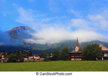 montanha, charming, prados, alpino