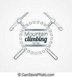 montanha, climbing.