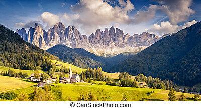 montanha, incomum, paisagem