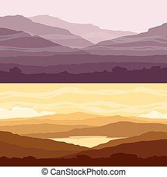 montanha, jogo, paisagens