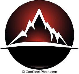 montanha, logotipo, desenho, modelo, vetorial