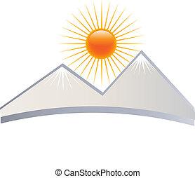 montanha, logotipo