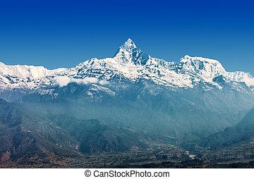 montanha, machhapuchchhre