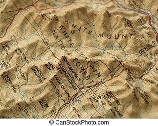 montanha, mapa