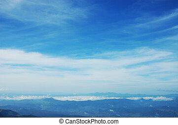 montanha, névoa