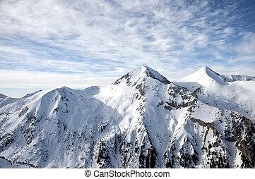 montanha, nevado