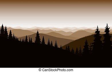 montanha, paisagem.