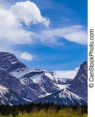 montanha, rochoso, peaka