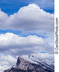 montanha, rochoso, pico