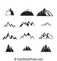 montanha, set., ícones