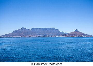 montanha tabela, em, cidade do cabo, áfrica sul