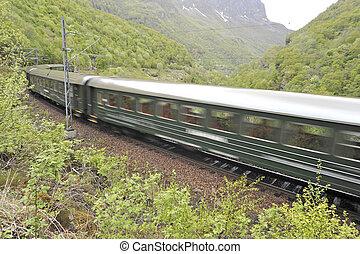 montanha, trem