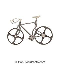 montanha, vetorial, desporto, ilustração, bicicleta