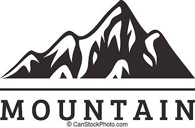 montanha, vetorial, emblema, ícone