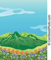 montanhas altas