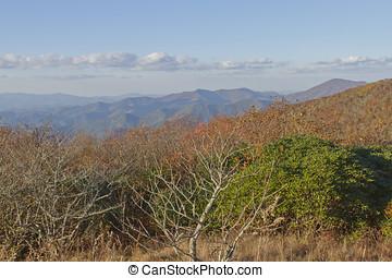 montanhas appalachian, vista
