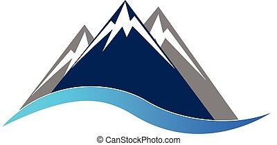 montanhas azuis, logotipo