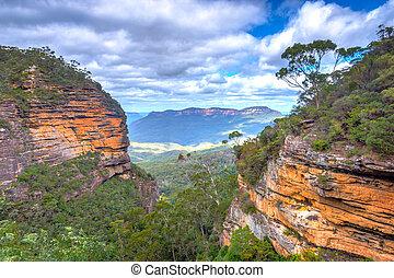 montanhas azuis parque nacional, austrália