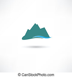 montanhas azuis, símbolo