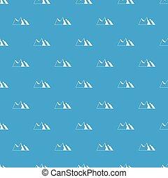 montanhas azuis, seamless, padrão