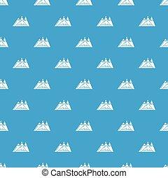 montanhas azuis, vetorial, seamless, padrão