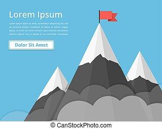 montanhas, bandeira