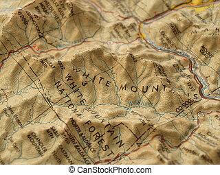 montanhas, branca