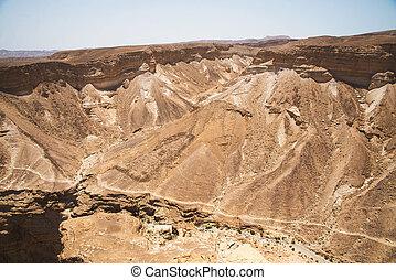montanhas, em, israel